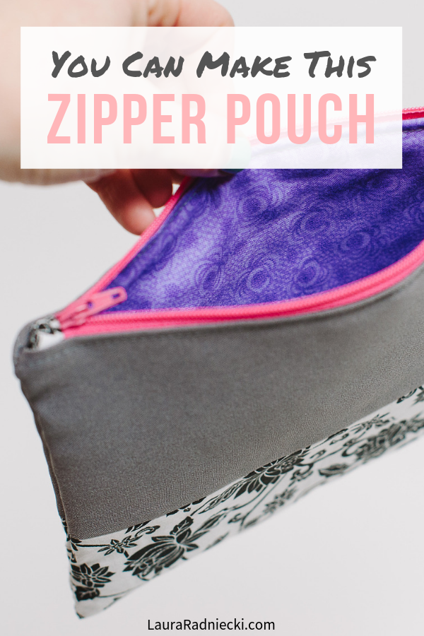 Zipper Pouch Tutorial _ How to Make a Zippered Pouch _ Easy Zipper Pouch