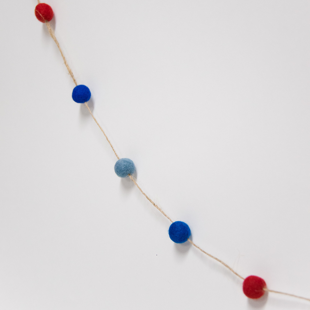 How to Make a Felt Ball Garland for the Fourth of July