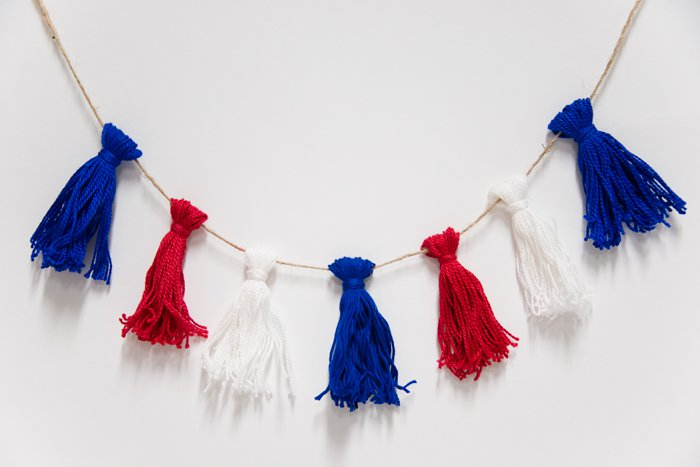 Embroidery Thread Tassel Garland for Fourth Of July Decor