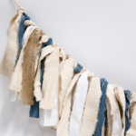 How to Make a Fabric Garland with Strips of Fabric Scraps