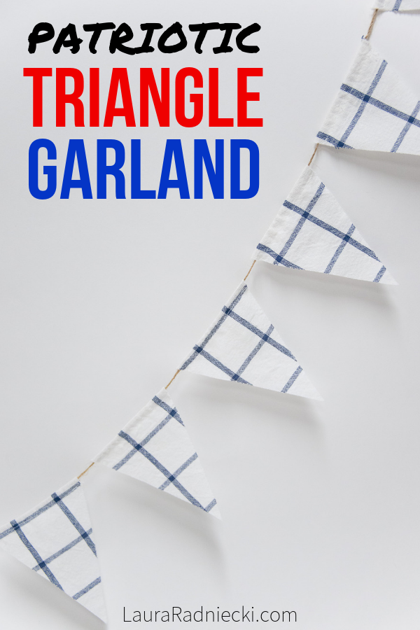 How to Make a Triangle Bunting Garland