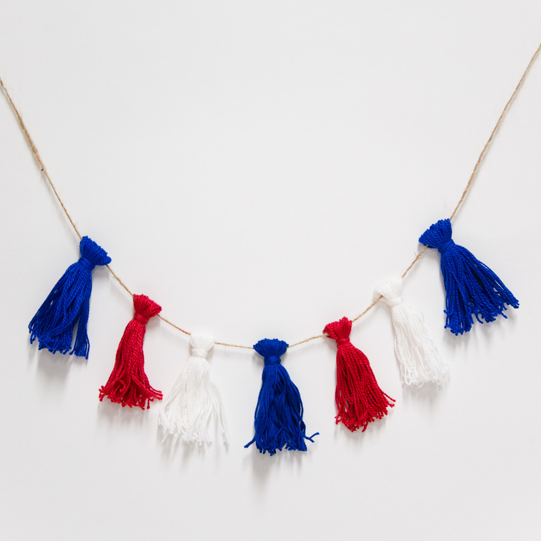 How to Make an Embroidery Floss Tassel Garland for the Fourth of July