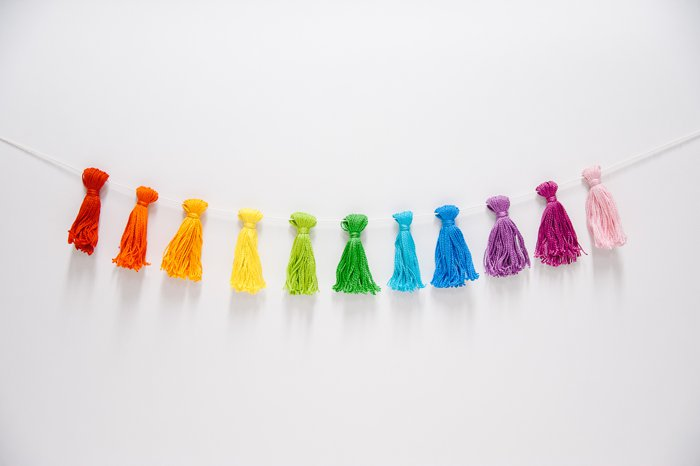 embroidery floss tassel garland
