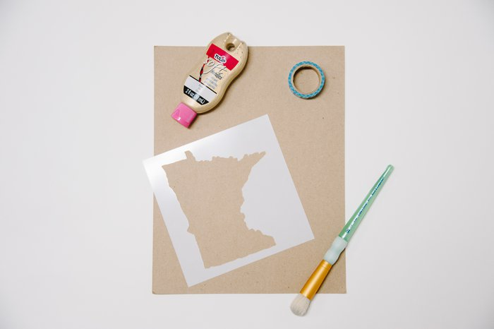Supplies needed for a stencil project