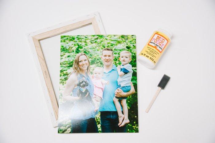 supplies needed to make a diy canvas photo print