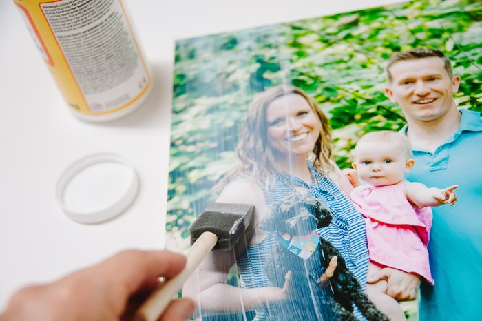 how to put a photo on canvas yourself with mod podge