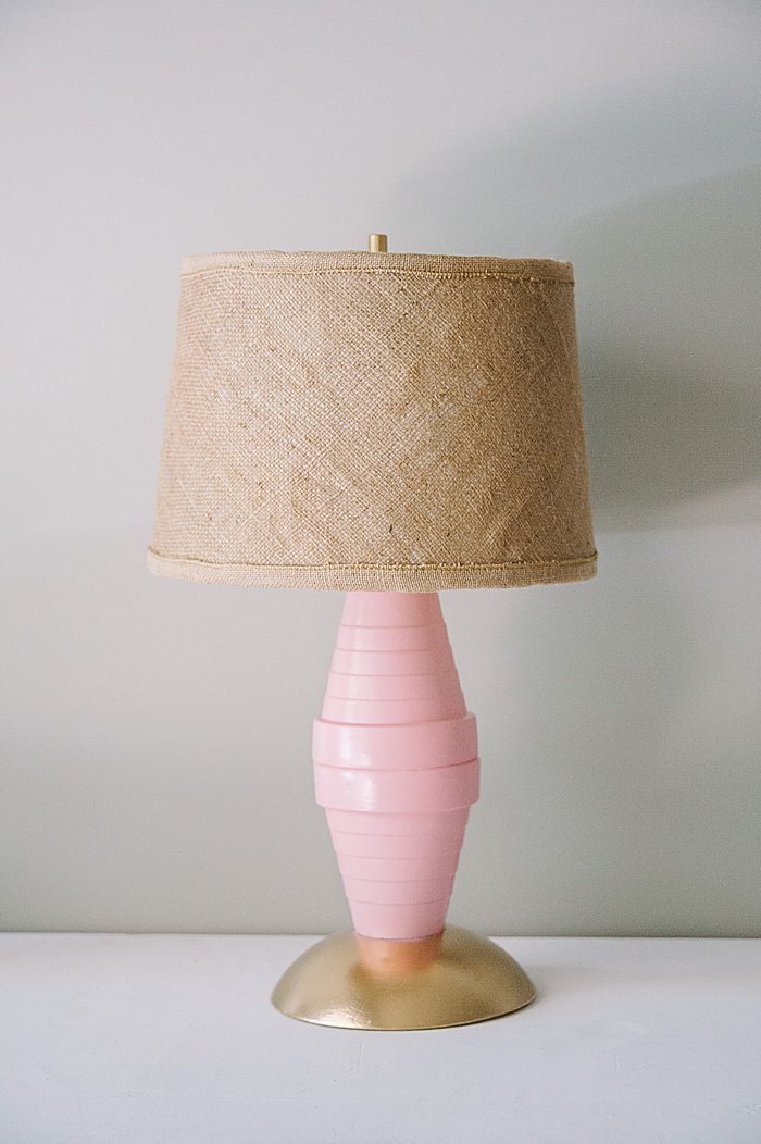 Repurposed lamp and lampshade