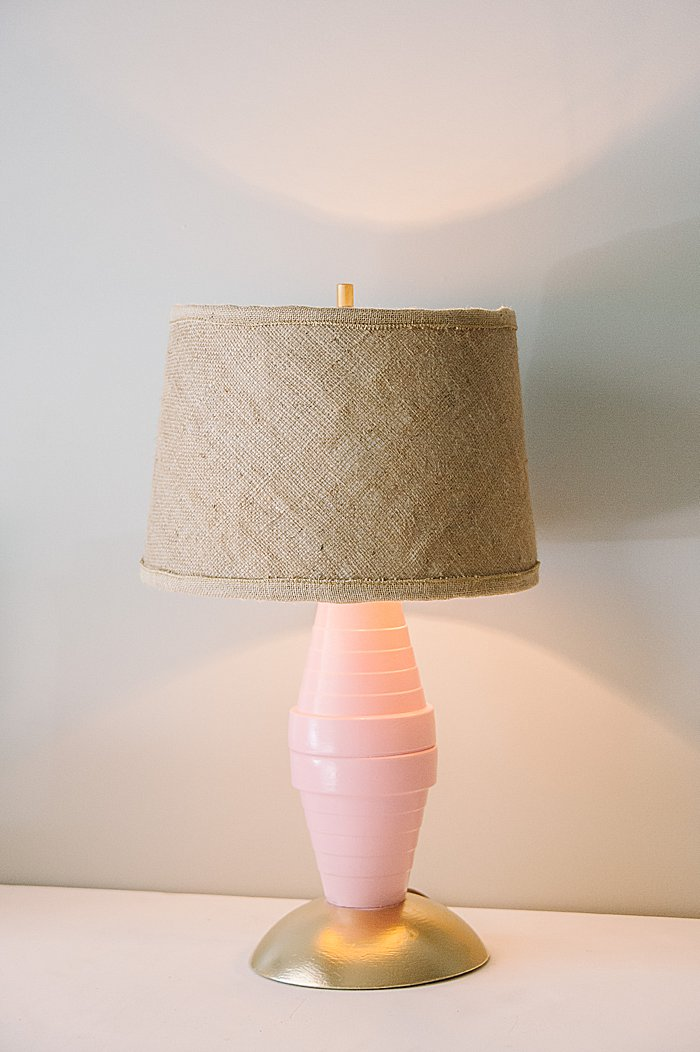 Upcycled lamp and lampshade - easy upcycle ideas from the Habitat for Humanity ReStore