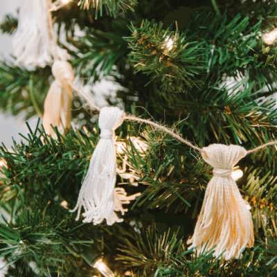 How to Make a Christmas Tassel Garland