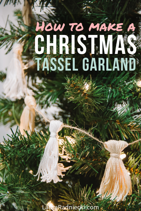 How to Make a Christmas Tassel Garland with Embroidery Floss
