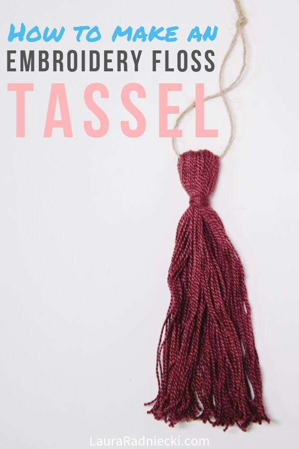 How to Make a Tassel with Embroidery Floss
