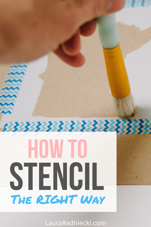How to Stencil the RIGHT Way _ Stencil Basics for Crafts