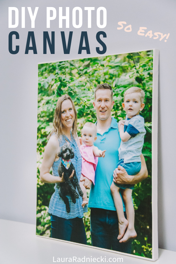 Simple DIY Photo Canvas _ The Fastest, Easiest Way to Mount Photos on Canvas
