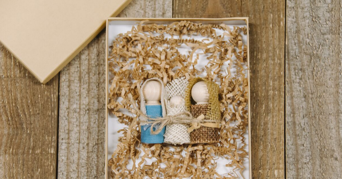 How to Make a DIY Holy Family Nativity Set with Mary, Joseph, and Baby Jesus