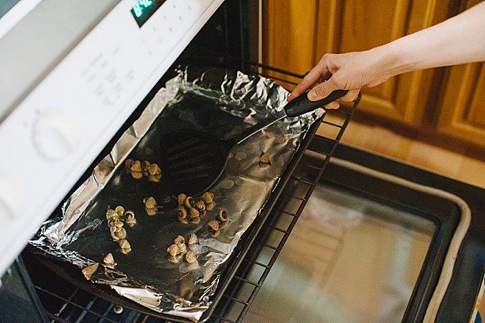 Turn acorns halfway through baking to dry them evenly