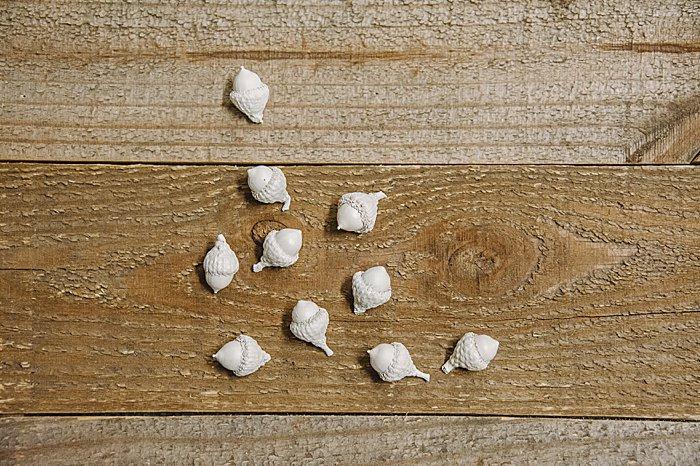 stunning handmade white acorn