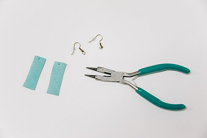 attach earring hooks with pliers