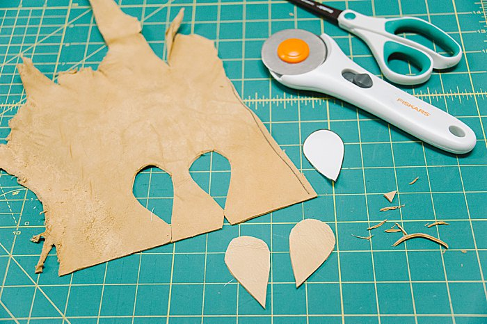 how to make leather leaf earrings like the kind joanna gaines wears