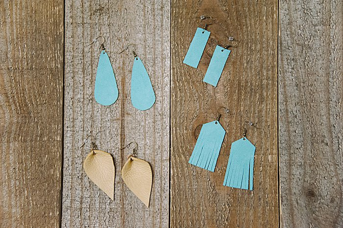 diy earrings made out of leather