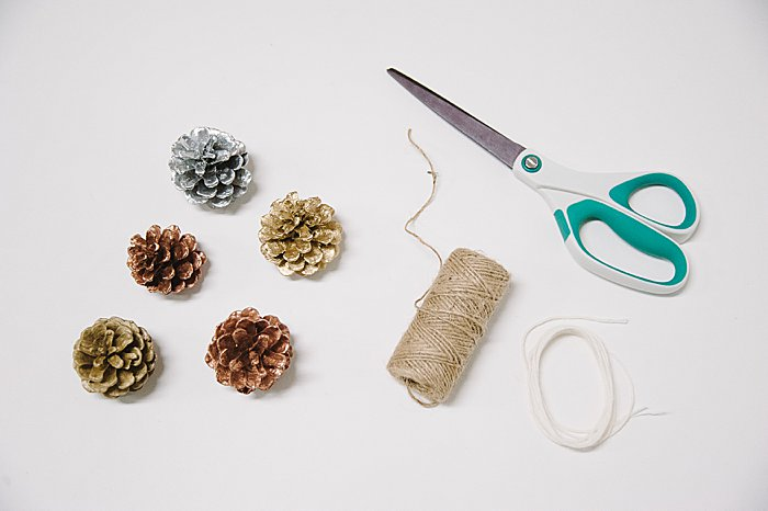supplies needed for pinecone christmas ornaments