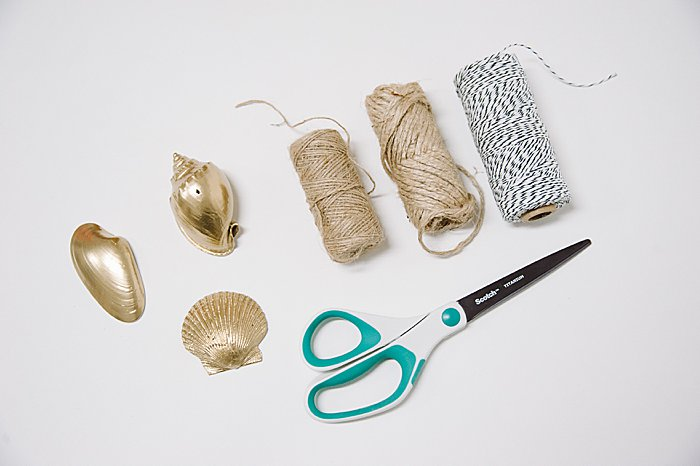 supplies to make large shell ornaments