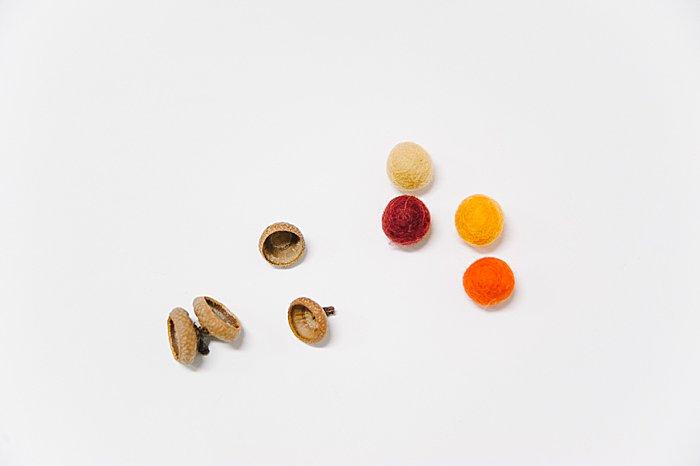 acorn caps and felt balls
