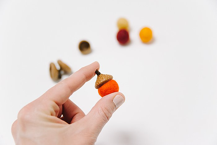 felt acorn