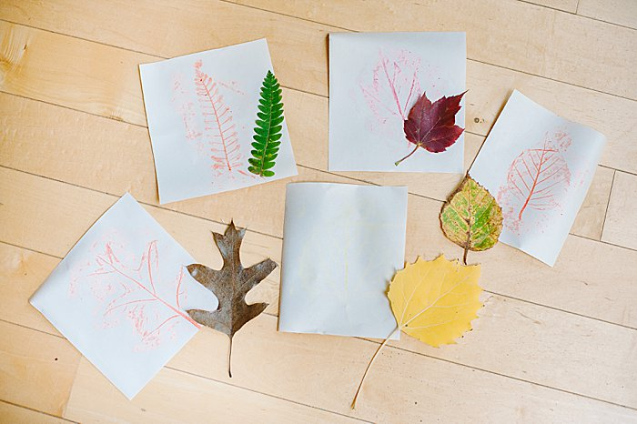 leaf rubbing art project