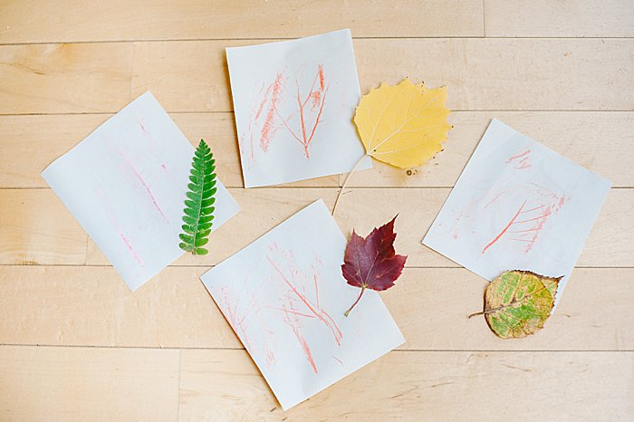 leaf rubbing for preschoolers, no perfection is required