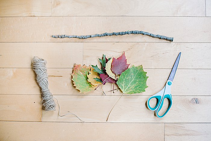 supplies to make a leaf wall hanging diy