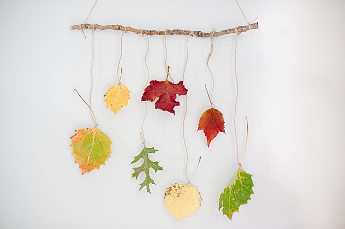 hang up the fall wall art and make sure you like the length and layout