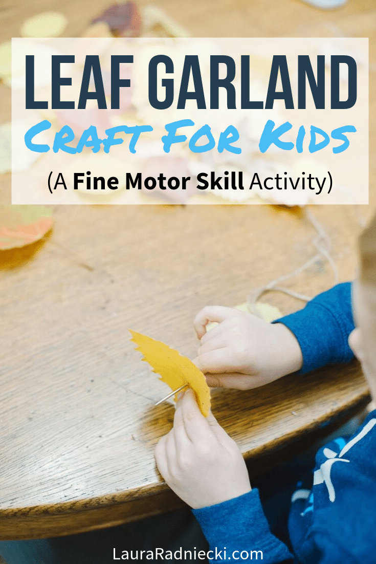 Easy DIY Leaf Garland | Leaf Crafts for Kids
