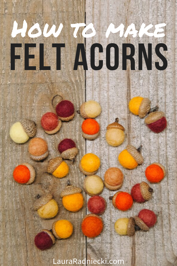How to Make Felt Acorns | Easy DIY Fall Decor Idea