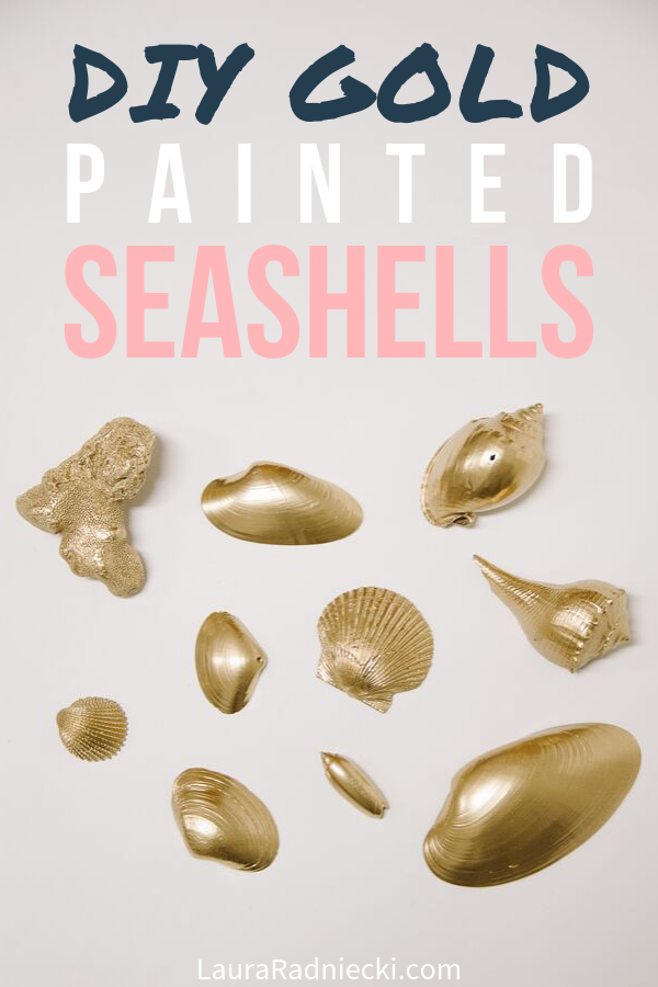 How to Spray Paint Seashells | DIY Gold Painted Seashells