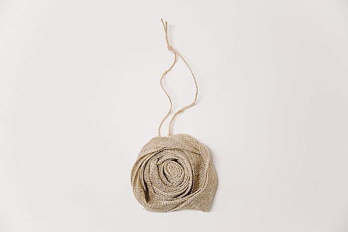 Day 3: Burlap Rosette Ornament - 30 Days of Ornaments Project