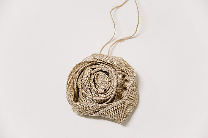 How to make an easy burlap rose craft ornament