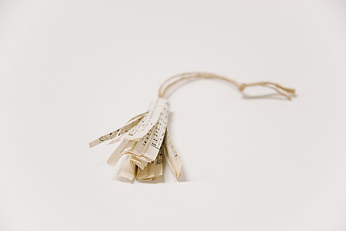 How to Make a Book Page Tassel Ornament