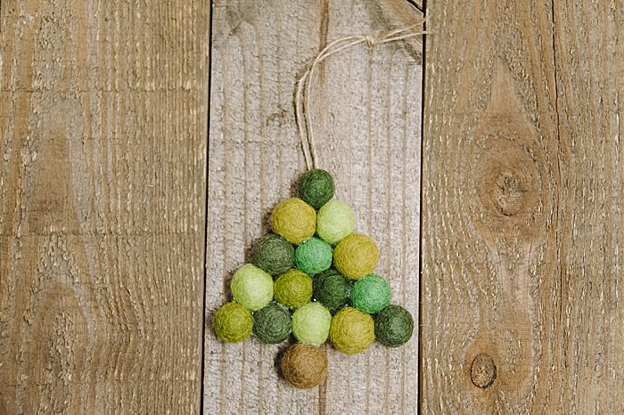 how to make a diy felt ball ornament, a felt ball tree