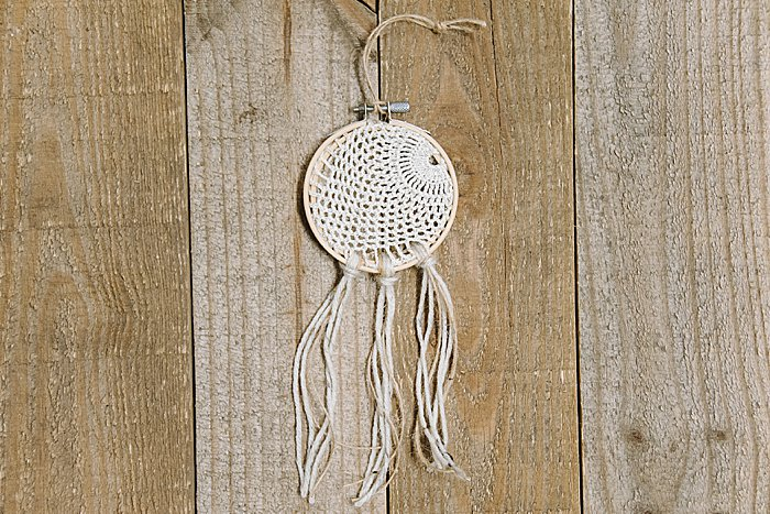 Day 15: How to Make a Doily Dreamcatcher Ornament | The 30 Days of Ornaments Project