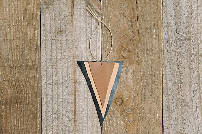 DIY Leather Scrap Ornament
