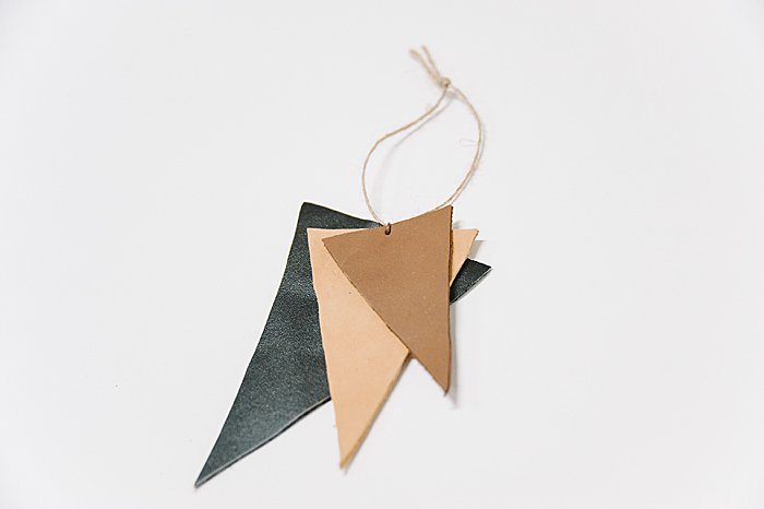 DIY handmade Leather Ornament