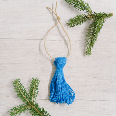 Day 1: Mini Embroidery Floss Tassel Ornament | 30 Days of Ornaments Project