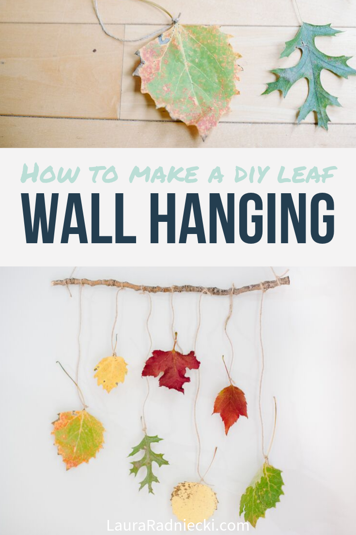 How to Make a DIY Leaf Wall Hanging with Autumn Leaves for Fall Decor