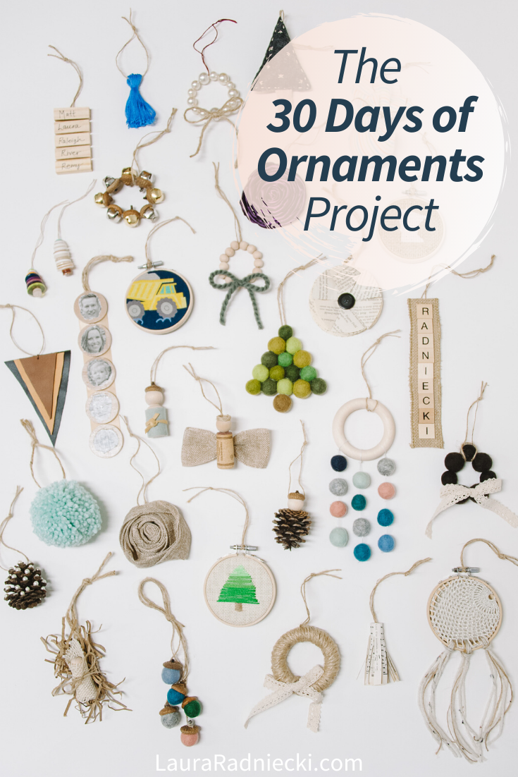The 30 Days of Ornaments Project _ Handmade DIY Christmas Tree Ornaments