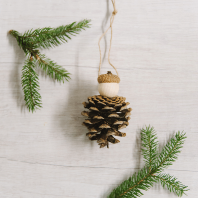 Day 10: How to Make a Pine Cone Person Ornament | The 30 Days of Ornaments Project