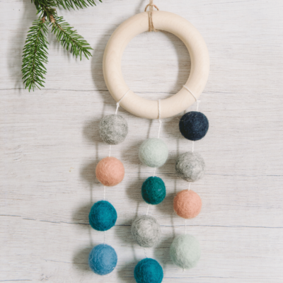 Day 11: How to Make a Felt Ball Dreamcatcher Ornament | The 30 Days of Ornaments Project
