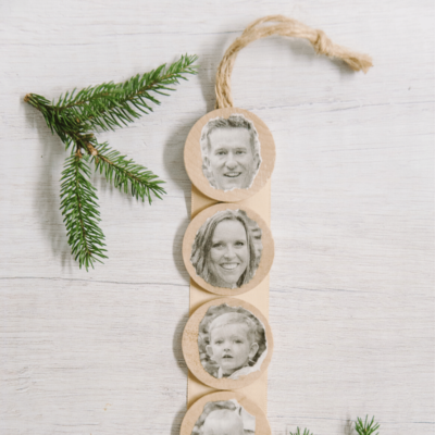 Day 12: How to Make a Mod Podge Family Photo Ornament | The 30 Days of Ornaments Project