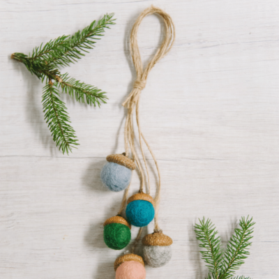 Day 13: How to Make a Felt Ball Acorn Ornament | The 30 Days of Ornaments Project