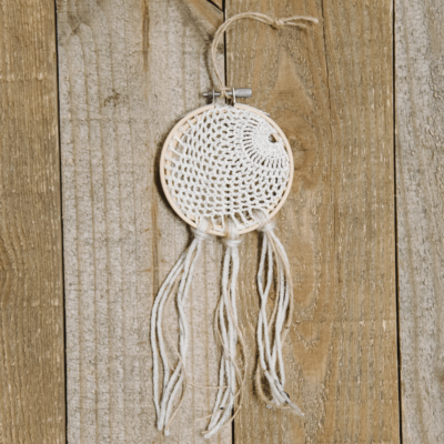 Day 15: How to Make a Doily Dreamcatcher Ornament   The 30 Days of Ornaments Project