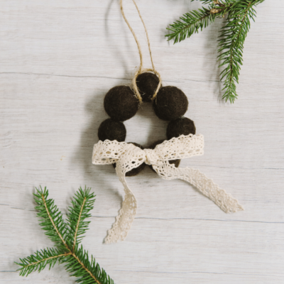 Day 16: How to Make a Felt Ball Wreath Ornament | The 30 Days of Ornaments Project